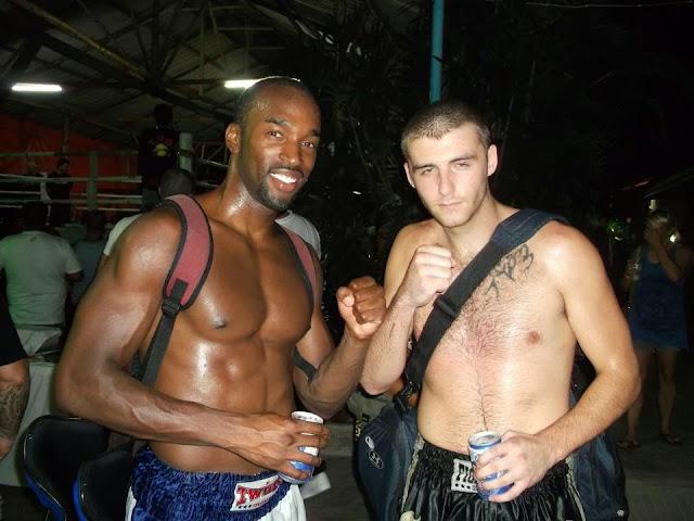 Post Muay Thai fight tiger beer