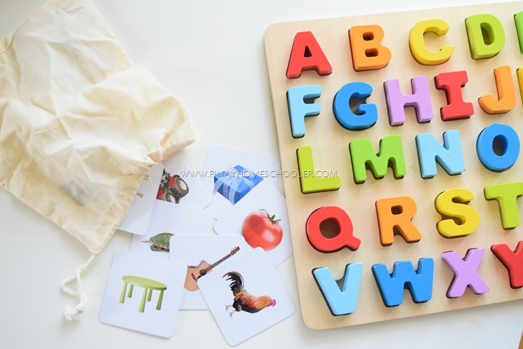Montessori Inspired Phonics Mystery Bag Game