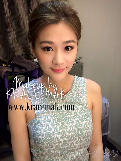 Eunice Chan makeup by the Hong Kong Makeup Artist Krace Mak for an event show
