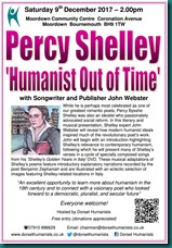Percy Shelley Humanist Out of Time 09 December 2017