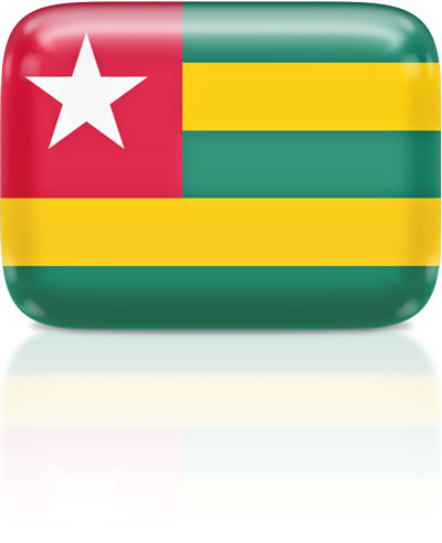 Togolese flag clipart rectangular