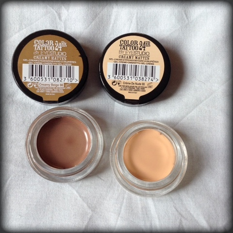Audrey maybelline color tattoo new colors for Maybelline color tattoo creme de nude