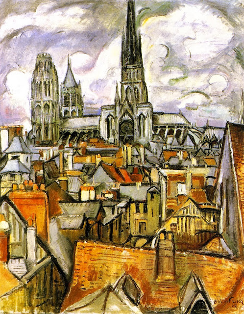 Othon Friesz - Roofs and Cathedral in Rouen, 1908