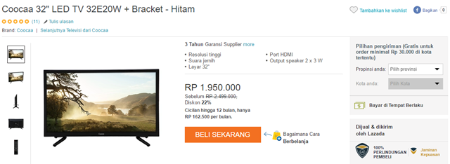 LED TV Coocaa 32 inci murah 02