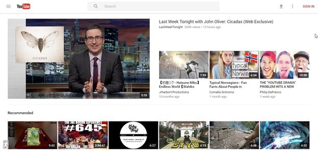 youtubes new materialistic design by google