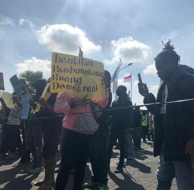 Mahasiswa Papua Demo Tuntut Pembebasan Rekannya yang Jadi Tahanan Politik