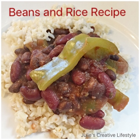 rice and beans recipe @ Julie's Creative Lifestyle