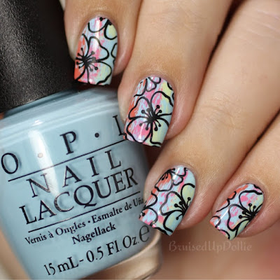 Opi retro summer dry brush stamping