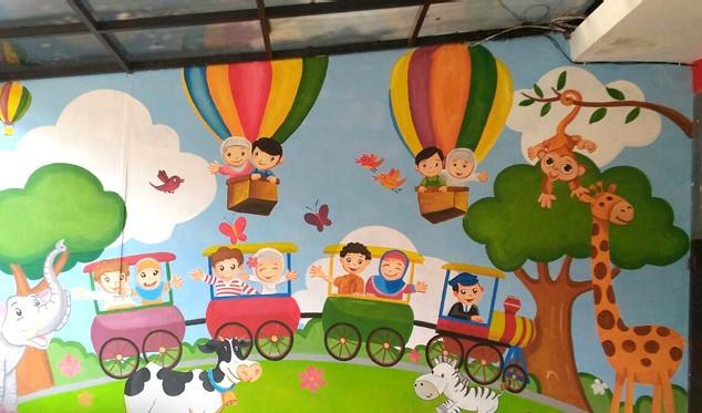 Lukisan Lukisan Mural Di Sekolah Di Dinding
