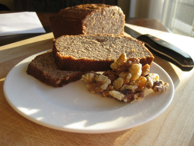 slice of bread made from a healthy banana bread recipe