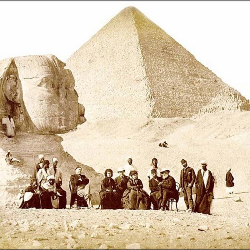 22 antigas e raras fotografias das pirâmides do Egito