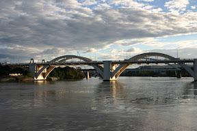 Sunlit spans of the William Jolly Bridge