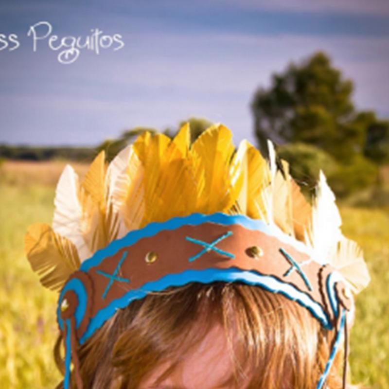 Como hacer plumas de papel para disfraz de indio