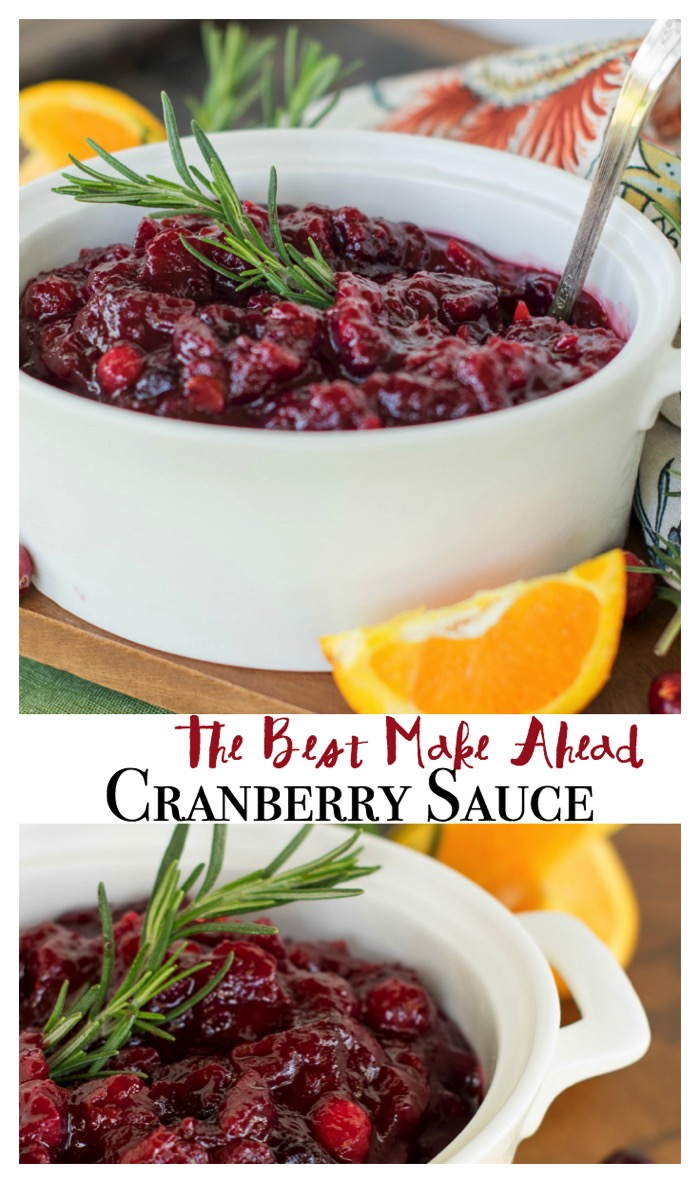 cranberry sauce that is easy to make ahead