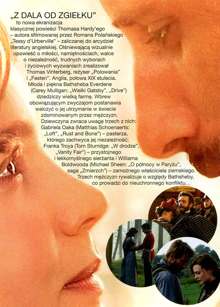 Ulotka filmu 'Z Dala Od Zgiełku (tył)'