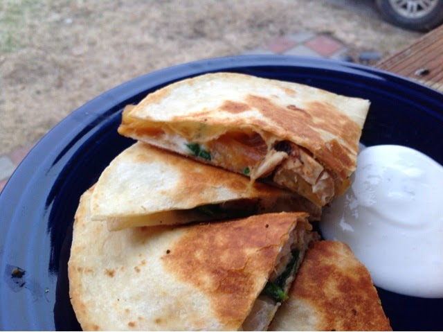 Married with pigs: Grilled Chicken and Pineapple Quesadillas
