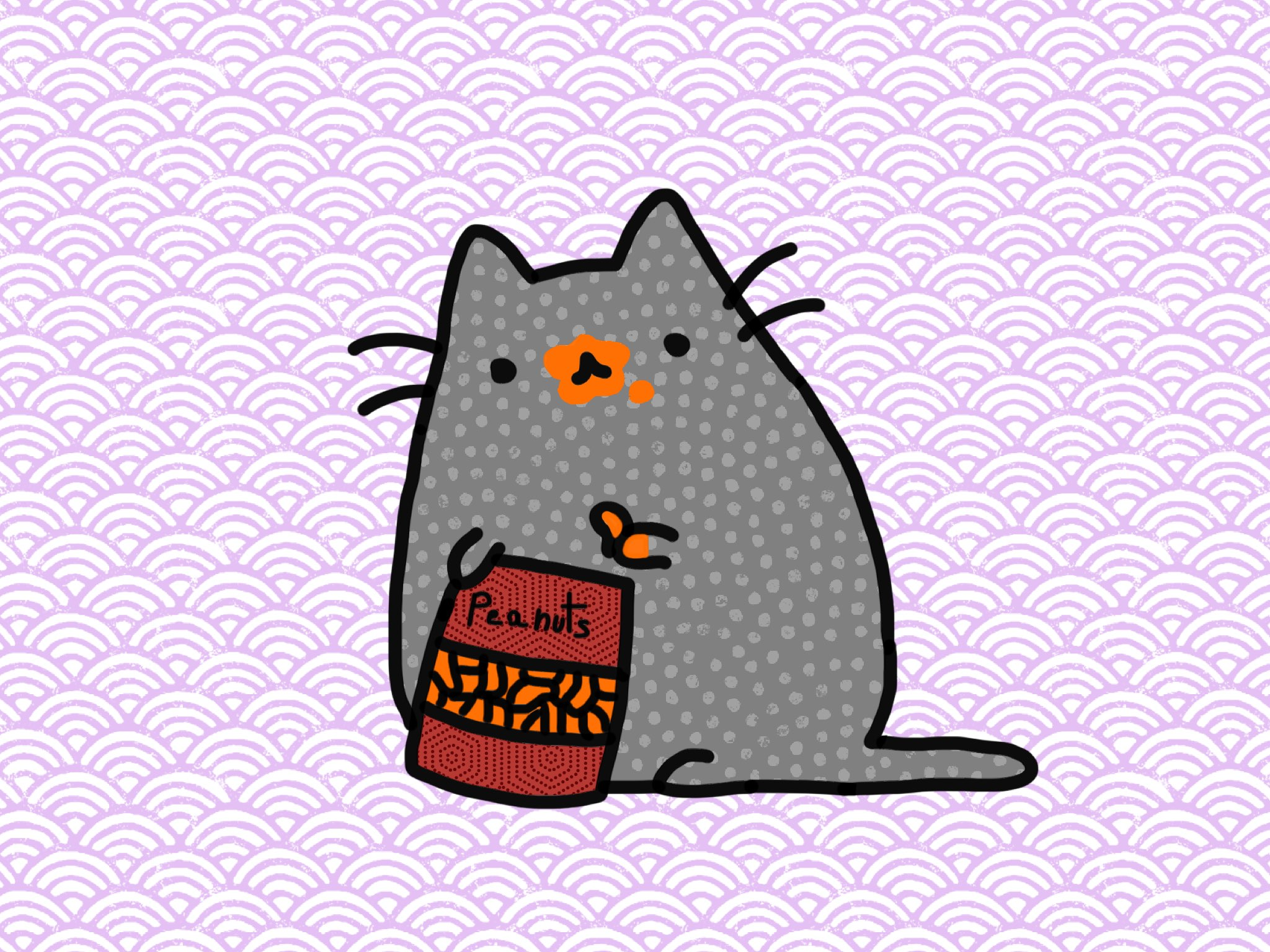 Cat and peanuts made with Sketches