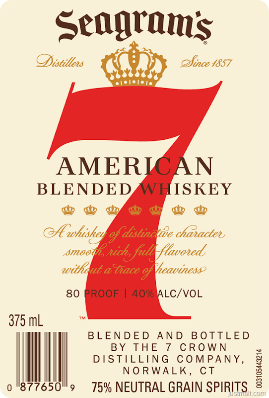 Seagrams 7 Crown American Blended Whiskey