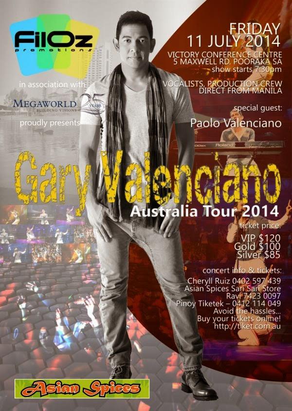 Gary Valenciano Concert 2014 in Australia