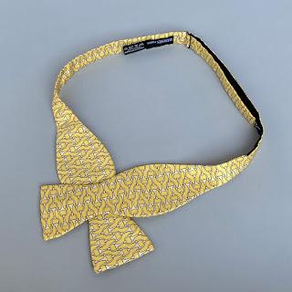 Hermès Silk Horsebit Bow Tie