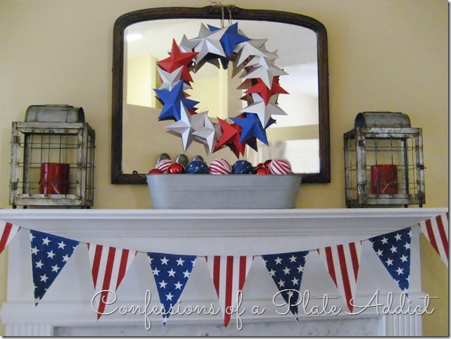 CONFESSIONS OF A PLATE ADDICT Patriotic Farmhouse Mantel