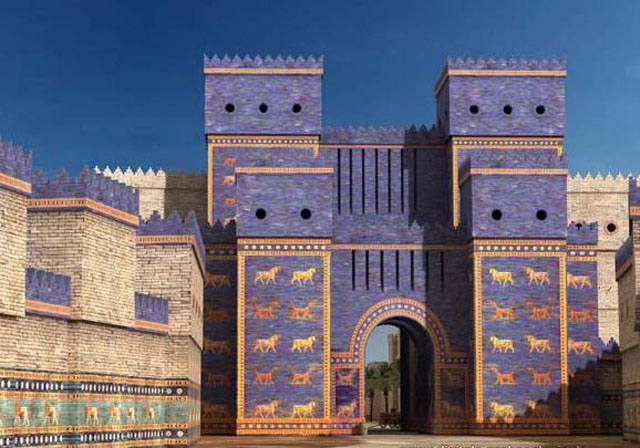 [Biblique] Babylone, ô Babylone ! *** Making-of *** Ishtar_Gate_walls