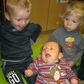 K1A baby Laurice van Leander op bezoek