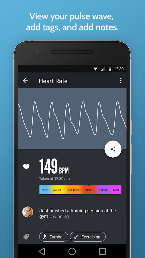 Instant Heart Rate : Heart Rate & Pulse Monitor- screenshot