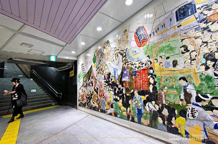 Japanese Murals at the Tokyo Subway