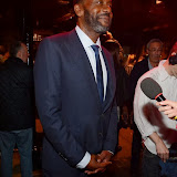 WWW.ENTSIMAGES.COM -    Lenny Henry    leaving         The Commitments - press night  at Palace Theatre, Shaftesbury Avenue, London, October 8th 2013                                             Photo Mobis Photos/OIC 0203 174 1069