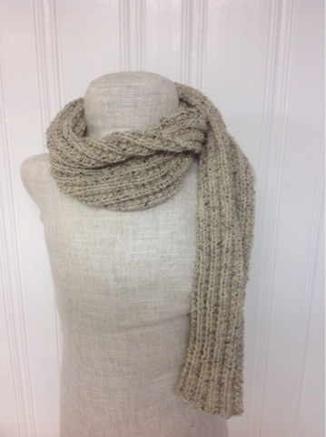 Knit Ribbed Scarf