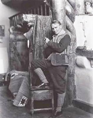 Nicolai Fechin in Taos studio