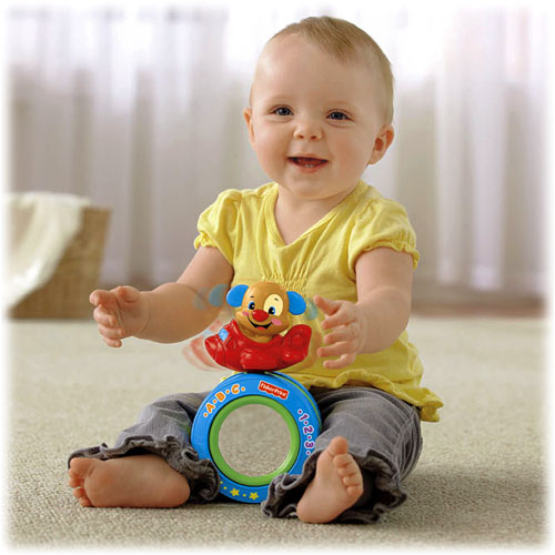 Con lăn Puppy's Crawl-Along Ball Fisher Price Y4231
