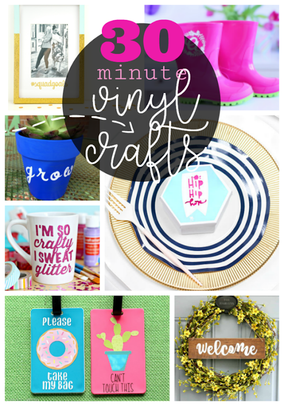 30 minute vinyl crafts with your Cricut Machine