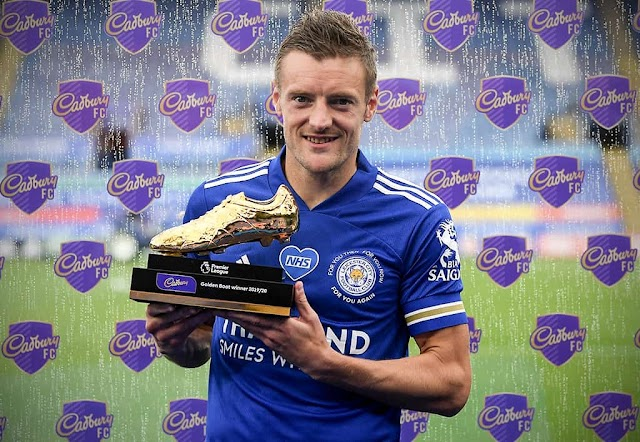Vardy Wins Golden Boot As Ederson Claims Golden Glove.