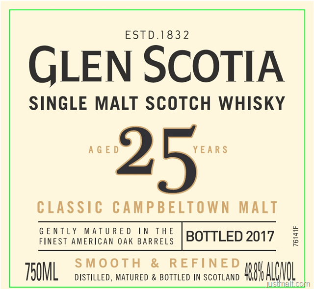 Glen Scotia 25-Year Single Malt Scotch Whiskey