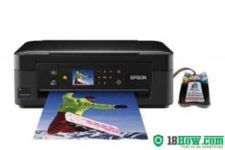 How to reset flashing lights for Epson XP-406 printer