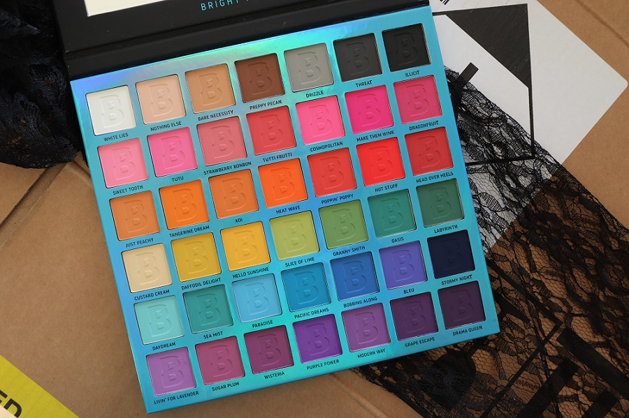 BeautyBay EYN Everything You Need Bright Matte 42 Eyeshadow Palette Review & Swatches London Makeup Artist Copywriter Content Writer
