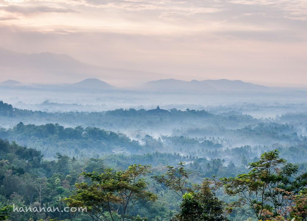 *indescribable* Candi Borobudur dari Punthuk Setumbu Magelang Jawa Tengah