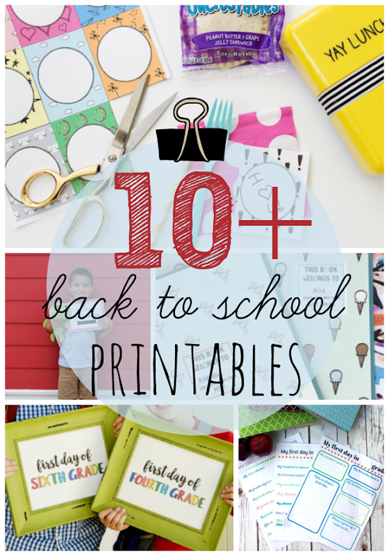 10  Back to School Printables