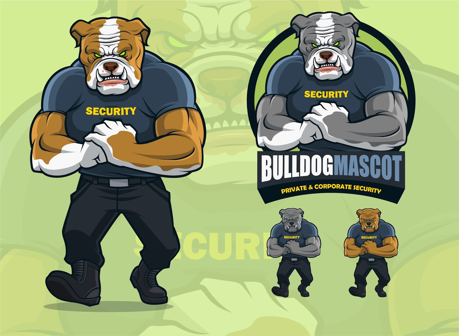 Bulldog Mascot Security Companies.jpg Free Download Vector CDR, AI, EPS and PNG Formats