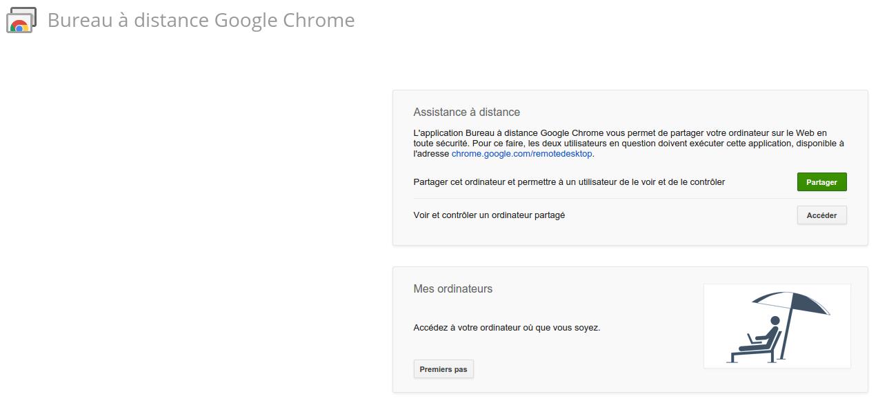 Illustration Bureau à distance de Google Chrome