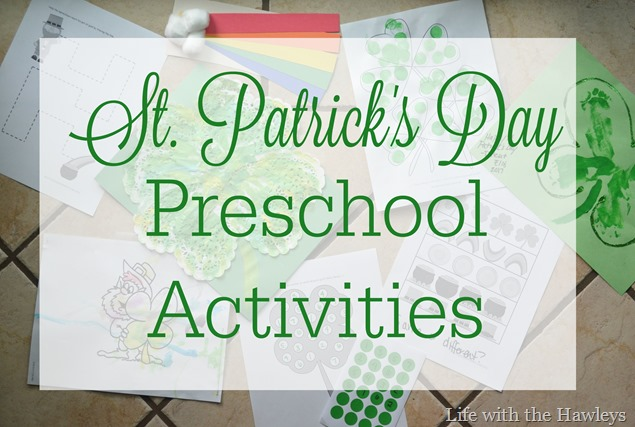 St Patricks Day Preschool Activities