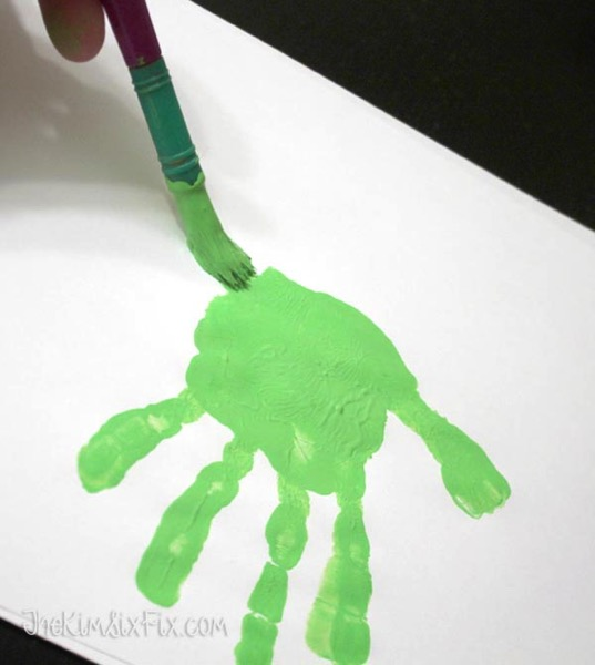 Kids handprint crafts