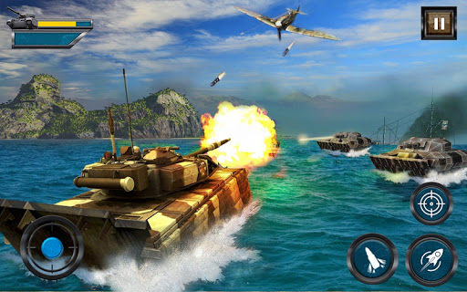 Army Tank Battle War On Water : Armoured Vehicle apkpoly screenshots 2