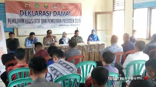 Deklarasi Kampanye Damai Digelar di Kecamatan Kabandungan