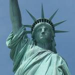 A nice closeup of ol' Lady Liberty