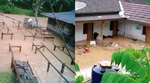 puluhan rumah di Sukabumi terendam banjir (Minggu /3/1)