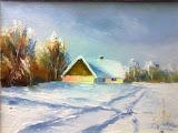 zimka II, olej, płótno, 18x24 cm