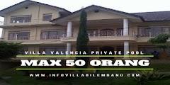 Villa Untuk Rombongan yang kolam renangnya di lembang bandung